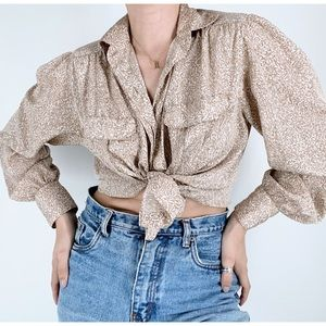 Vintage JH Collectibles Printed Button Down Top